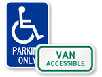 California Handicap Parking Signs