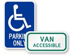 California Handicap Parking Signs