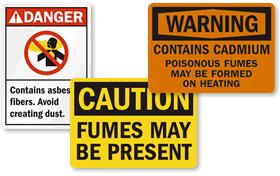 Hazardous Fumes Signs
