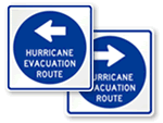 Hurricane Evacuation Route Signs