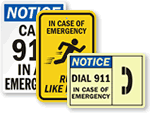 In Case of Emergency Signs