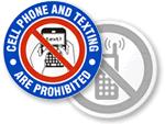 No Texting Labels
