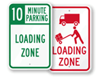 Loading Zone Signs