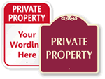 More Private Property Signs