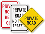 More Private Road Signs