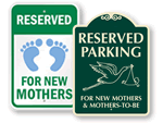 New Mothers Parking Signs