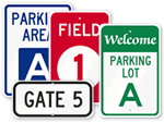 School Parking Area Signs