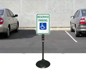 Parking Lot Signs on Portable Stand