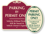 Parking Permit Signs