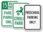 Preschool Parking & Traffic Signs