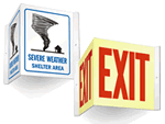3D Projecting Emergency Signs