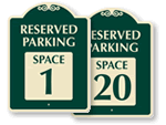 Reserved Parking Signature Signs