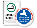 No Smoking Signs - State Specific