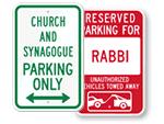 Synagogue Signs