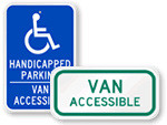 Van Accessible Parking Signs