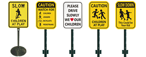 Children at Play Sign Kits
