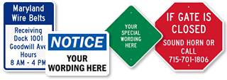 Custom Plastic Facility Signs