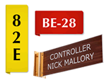 Custom Plastic Corridor Signs