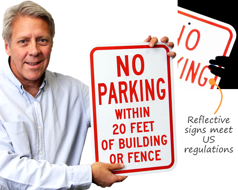 Custom Reflective Parking Sign
