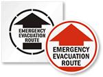 Evacuation Route Stencils