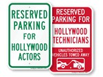 Hollywood Parking Signs