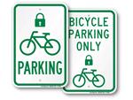 Bike Lock Cut Off Signs