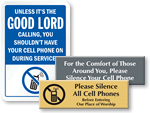 No Cell Phone Signs For Church