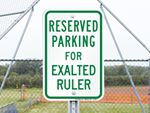 Novelty Reserved Parking Signs