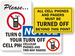 Turn Off Cell Phone Signs