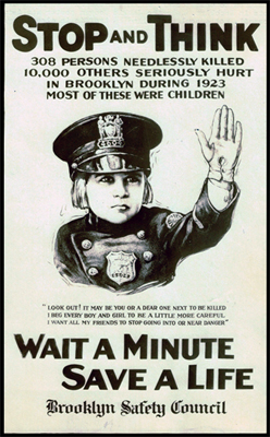 Jackie Coogan Safety Poster