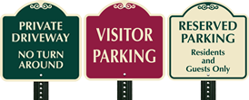 18 Inch x 18 Inch Parking SignatureSign™