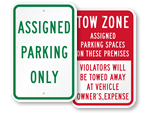 Park Only in Assigned Spaces