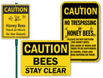 Bee Safety Signs