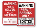 Booted Car Signs
