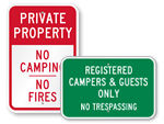 Campground Registration Signs