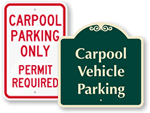 Carpool and Van Pool Signs