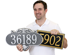 Cast Aluminum House Numbers