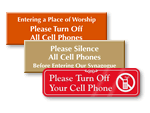 Cell Phone Signs For Doors