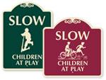 Designer Children at Play Signs