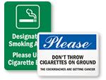 Cigarette Butt Signs