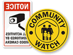 Community Watch Stickers