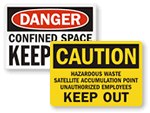 Unauthorized Persons Keep Out Signs