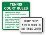Tennis Court Rules Signs