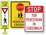 Crosswalk Safety Signs