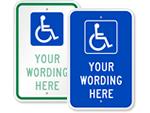 Custom ADA Handicap Signs