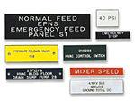 Custom Control Panel Nameplates