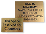 Custom Engraved Brass Signs