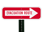 Custom Evacuation Route Signs
