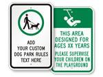 Custom Park Signs