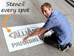 Custom Parking Lot Stencils